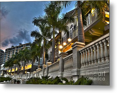Metal Print featuring the photograph Cape Coral Marina And Resort by Timothy Lowry