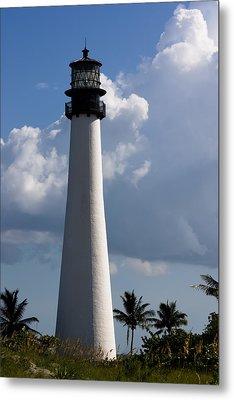 Cape Florida Lighthouse Metal Print by Ed Gleichman