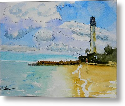 Cape Florida Lighthouse Metal Print by Warren Thompson
