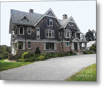 Metal Print featuring the digital art Cape Mansion by David Klaboe