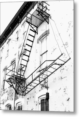 Capitol Hill Fire Escape Metal Print by Steven Ainsworth