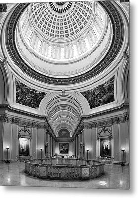 Capitol Interior Metal Print by Ricky Barnard