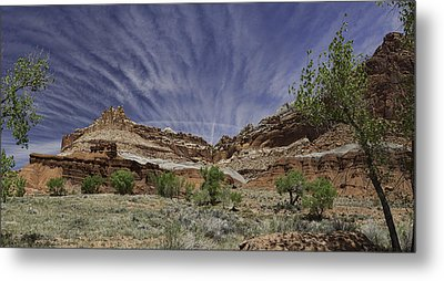 Metal Print featuring the photograph Capitol Reef Sky Fan by Gregory Scott