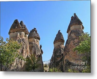 Capped Rock Formations Of Cappadocia Metal Print