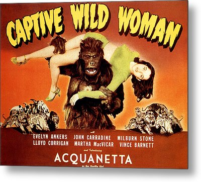 Captive Wild Woman, Ray Crash Corrigan Metal Print
