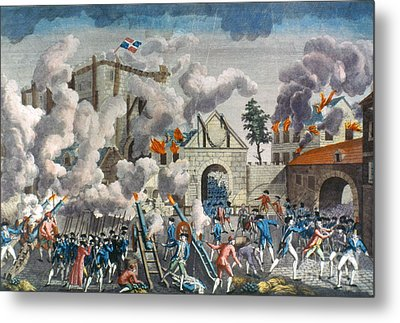 Capture Of Bastille, 1789 Metal Print by Granger