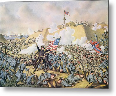Capture Of Fort Fisher 15th January 1865 Metal Print by American School