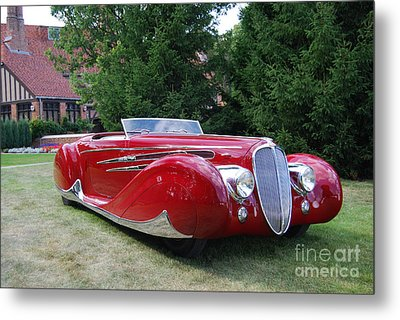 Car At Meadowbrook Metal Print by Grace Grogan