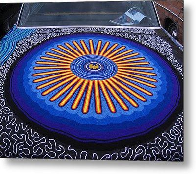 Car Hood Of Yarn Metal Print by Kym Backland