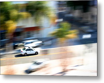 Car In Motion Metal Print