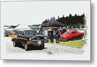 Car Show Gasser Metal Print by Steve McKinzie