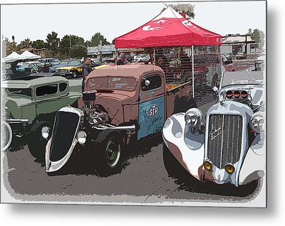 Car Show Hot Rods Metal Print by Steve McKinzie