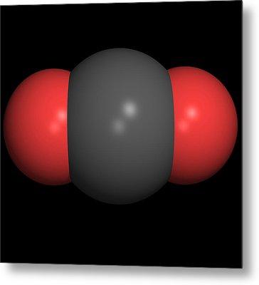 Carbon Dioxide Molecule Metal Print by Friedrich Saurer
