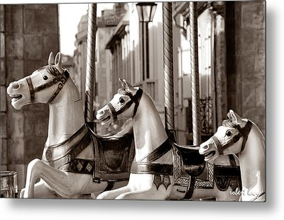 Carcassone Ride Metal Print by Robert Lacy