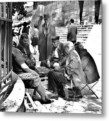 Cardgame Paris 1960 Metal Print by Glenn McCurdy