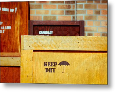 Cargo Crates Metal Print by Tom Gowanlock