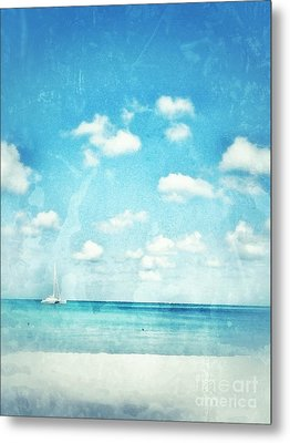 Metal Print featuring the photograph Caribbean Beach by Diana Riukas