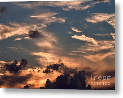 Caribbean Sunset Near Norman Island Metal Print by Louise Heusinkveld