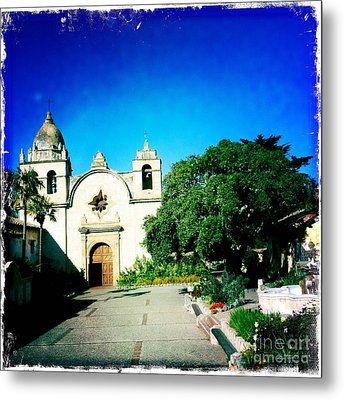 Metal Print featuring the photograph Carmel Mission by Nina Prommer