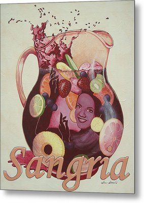 Carmen Miranda Sangria Metal Print by Jennifer  Donald