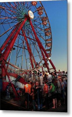 Carnival - An Amusing Ride  Metal Print by Mike Savad