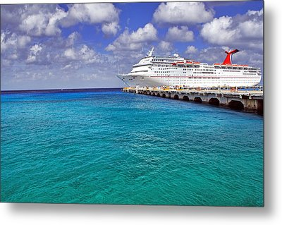 Carnival Elation Docked At Cozumel Metal Print by Jason Politte