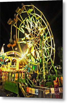 Carnival Ferris Wheel Metal Print by Gregory Dyer