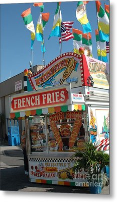 Carnival Festival Fun Fair French Fries Food Stand Metal Print