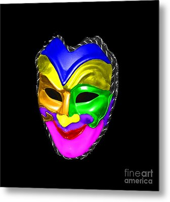 Metal Print featuring the photograph Carnival Mask by Blair Stuart