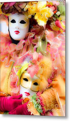 Metal Print featuring the photograph Carnival Mask by Luciano Mortula