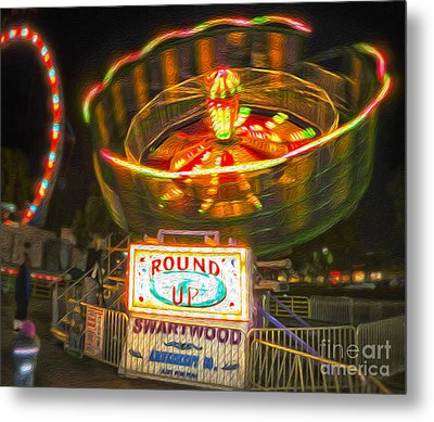 Carnival Ride - The Round Up Metal Print by Gregory Dyer