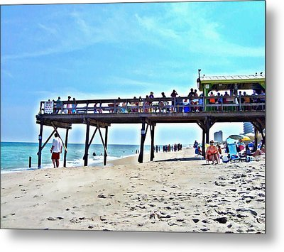Carolina Beach Tiki Bar Metal Print