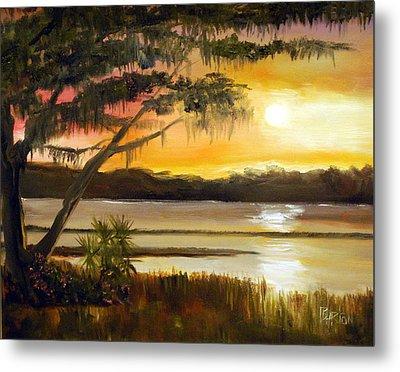 Carolina Sunset Metal Print by Phil Burton