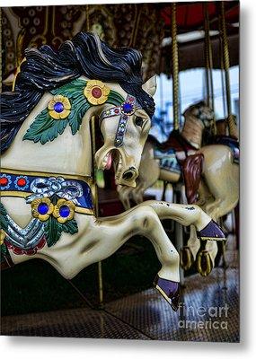 Carousel Horse 5 Metal Print by Paul Ward