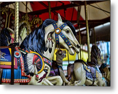 Carousel Horse 6 Metal Print by Paul Ward