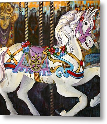 Carousel Horse Hull Massachusetts Metal Print