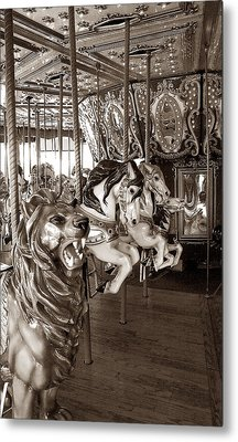 Metal Print featuring the photograph Carousel by Raymond Earley