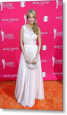 Carrie Underwood Wearing A Randi Rahm Metal Print by Everett