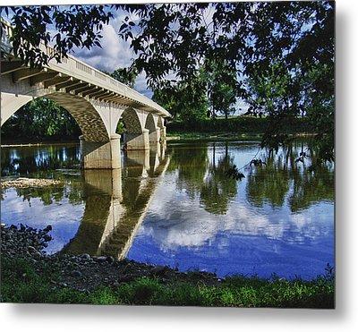 Carrollton Bridge Over The Wabash Metal Print by Jim Finch