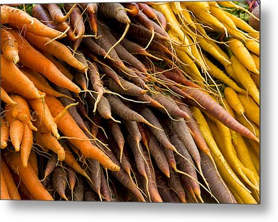 Metal Print featuring the photograph Carrots by Michael Friedman