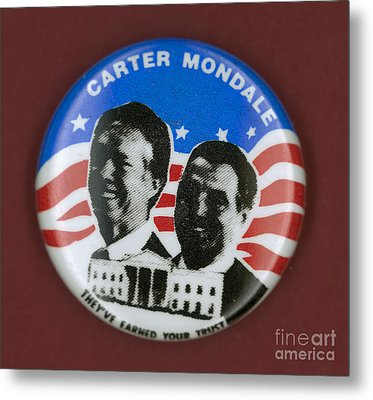 Carter Campaign Button Metal Print by Granger