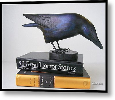 Carved Crow  Metal Print
