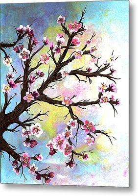 Carved In A Cherry Tree I I Metal Print by Barbara Griffin