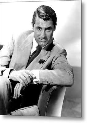 Cary Grant, Portrait Metal Print by Everett