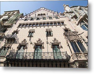 Casa Amatller Building Barcelona Metal Print by Matthias Hauser