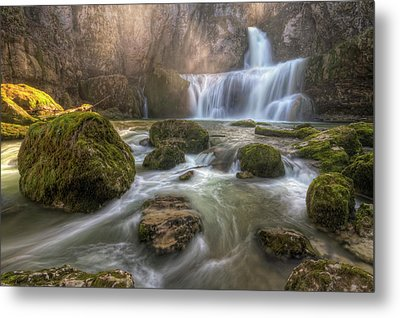 Cascade Of Billaud Metal Print by Philippe Saire - Photography