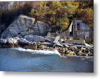 Metal Print featuring the photograph Casco Bay Fort Area Scene by Maureen E Ritter