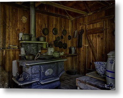 Cast Iron Wood Stove Metal Print by Lynn Palmer