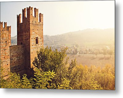 Castell'arquato Metal Print by Just a click