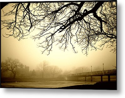 Metal Print featuring the photograph Castle In The Fog by Brian Duram